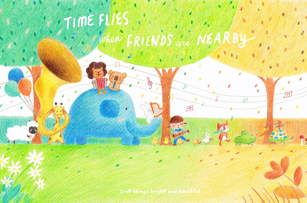當好友在身邊,時光就飛逝