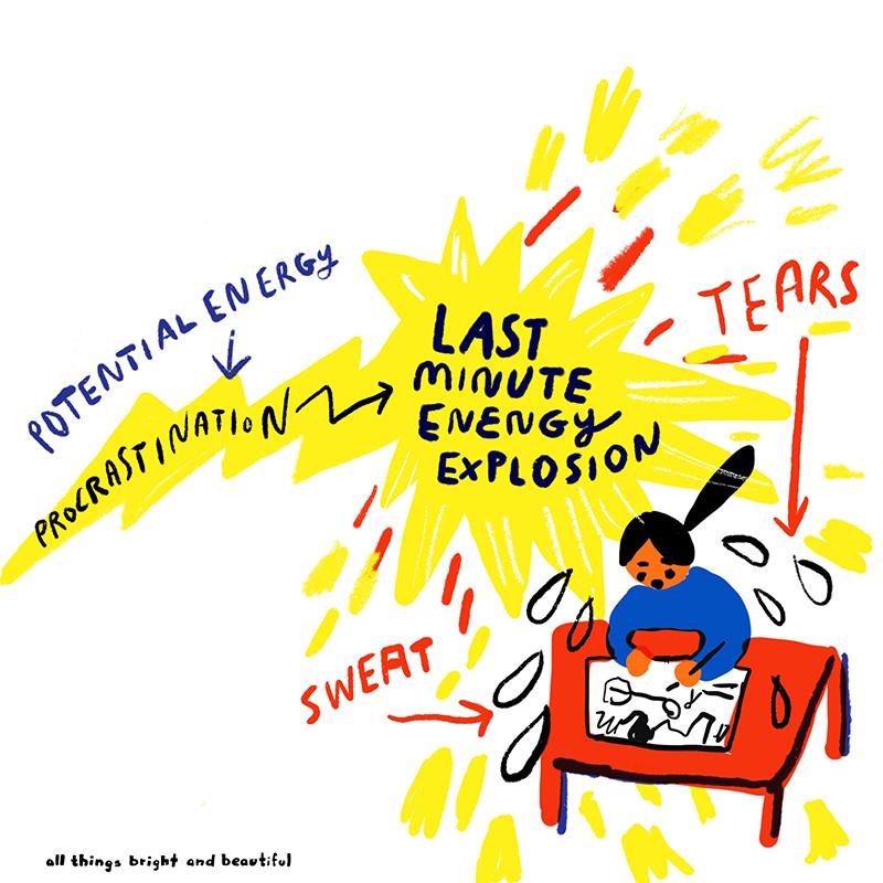 Procrastination - last minute energy explosion