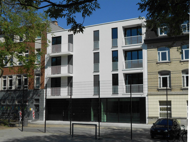 Nieuwbouw kantoor + appartementen - Antwerpen