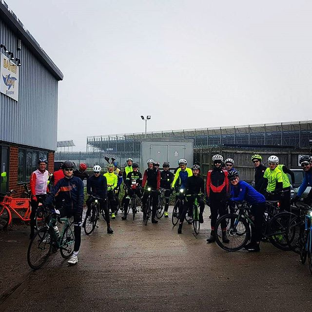 It was a grim day out but we still had a huge turn out for our Christmas ride! Thank you to everyone who turned up and made it such an enjoyable morning. We'd also like to thank everyone who's supported the business whether is buying a bike, dropping in for a coffee or just in desperate need of a new tube, you all make it worth while!  We wish you all a very Merry Christmas and a Happy new year.  We'll catch you all on the road in January  Much love from the Team@Bainesracing!  #wymtm #wintermiles #summersmiles #outsideisfree #christmas #bainesracing #pedalsandpistons