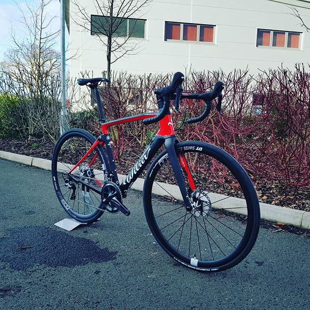 It is finally here! The long awaited @wiliertriestina Cento 10 NDR has landed @bainesracingcc. We've been mega excited to see this one for some time. We reckon this is the most exciting bike around in 2018 combining an integrated endurance geometry road frame with an aero design and Wilier's new #actiflex rear stay design which allows the rear end of the frame to move independently from the rest of the frame, with the use of a de-coupled rear stay and an elastomer dampener. These bikes are currently in very short supply! If you fancy getting your hands on this particular model don't hesitate to drop us DM. #bainesracing #pedalsandpistons #wilier #cento10ndr #actiflex #my18 #baero