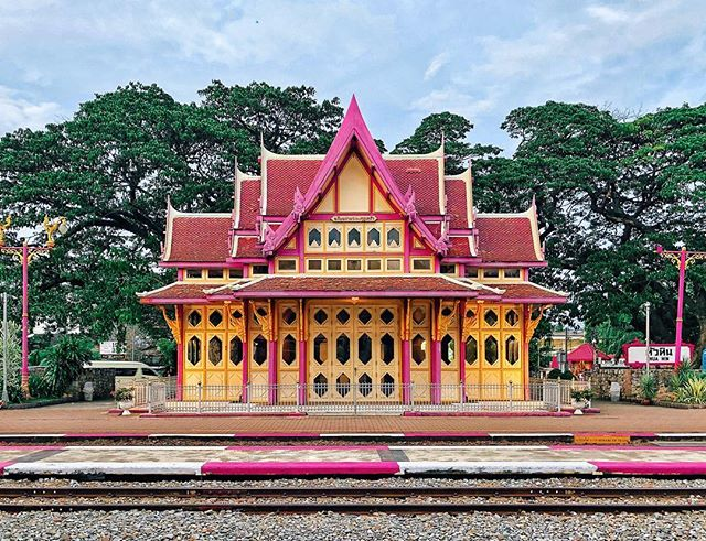 From the weekend in #HuaHin, #Thailand - Hua Hin railway station.