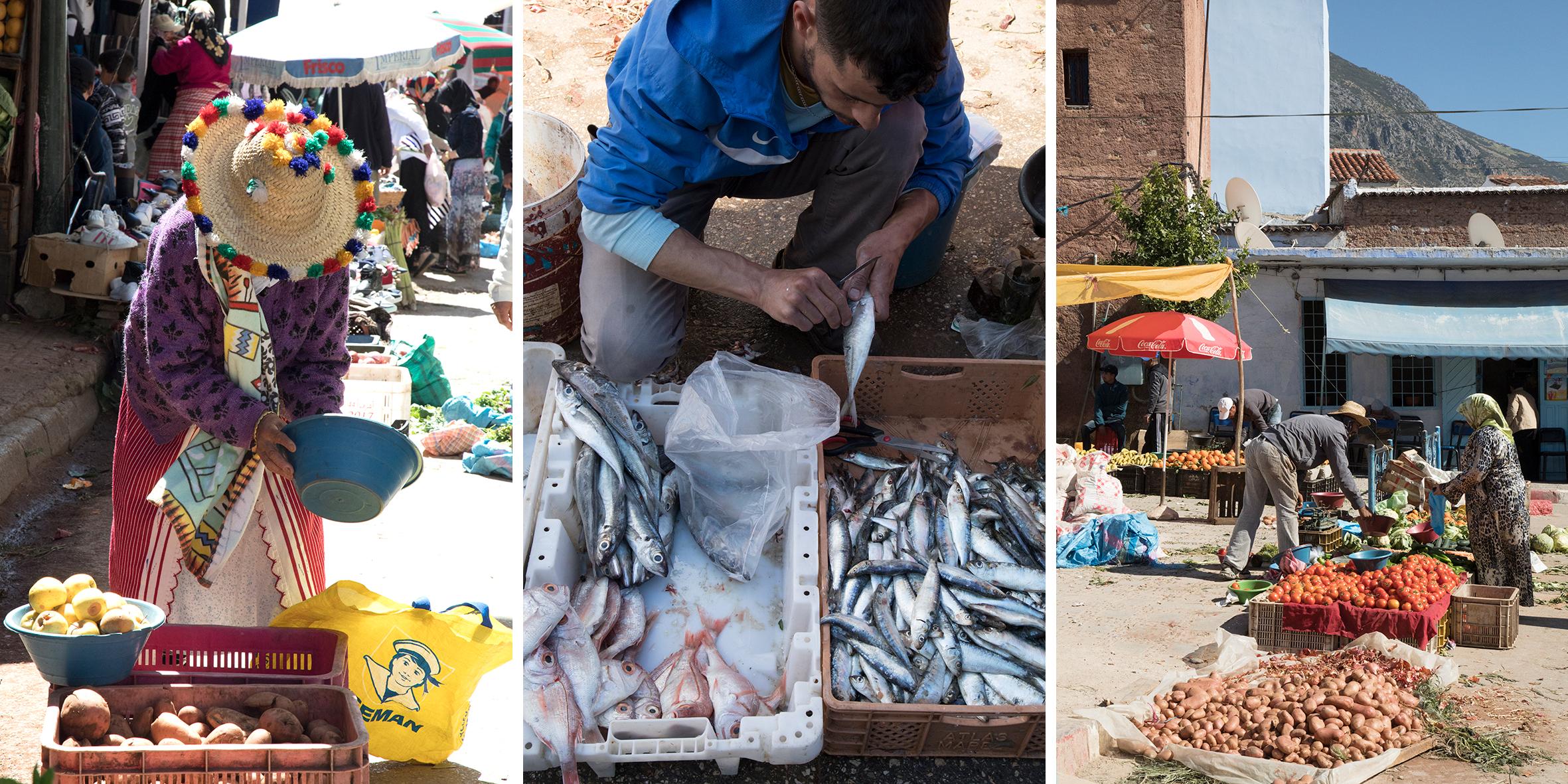 markt in Chefchaouen
