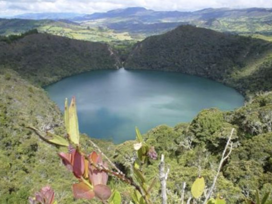 Looking down to the lagoon at Guatavita
