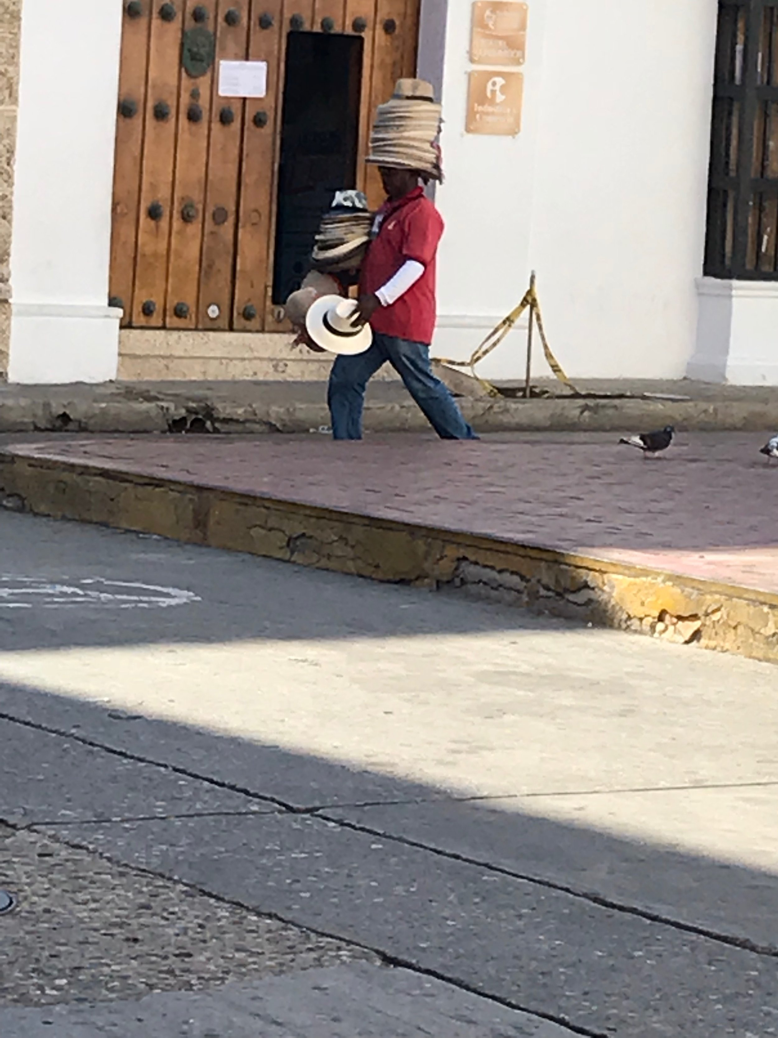 Hat seller in Cartagena