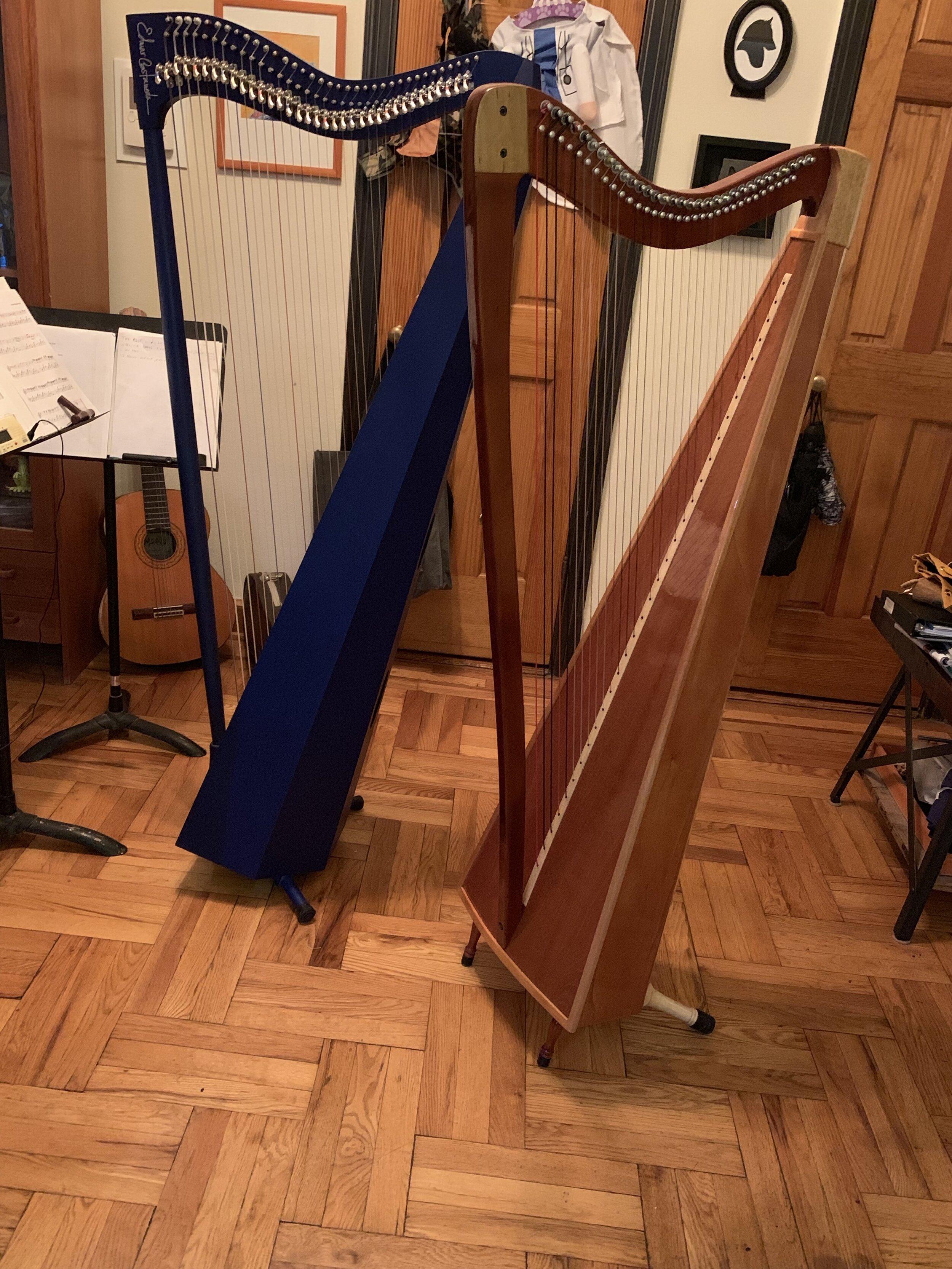 My two llanera harps