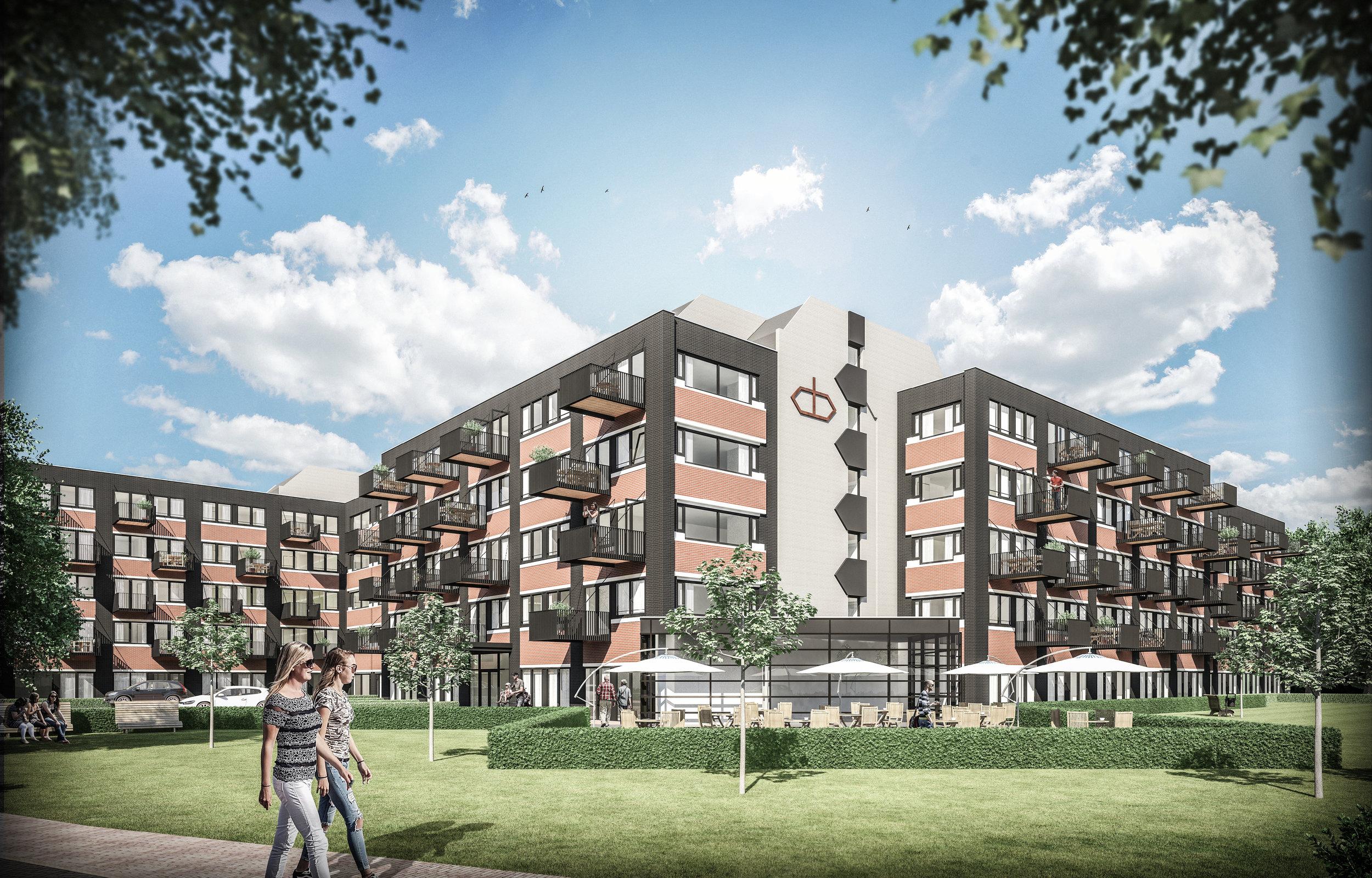 Impressie exterieur De Beeldhouwer fase 2 in Hoorn