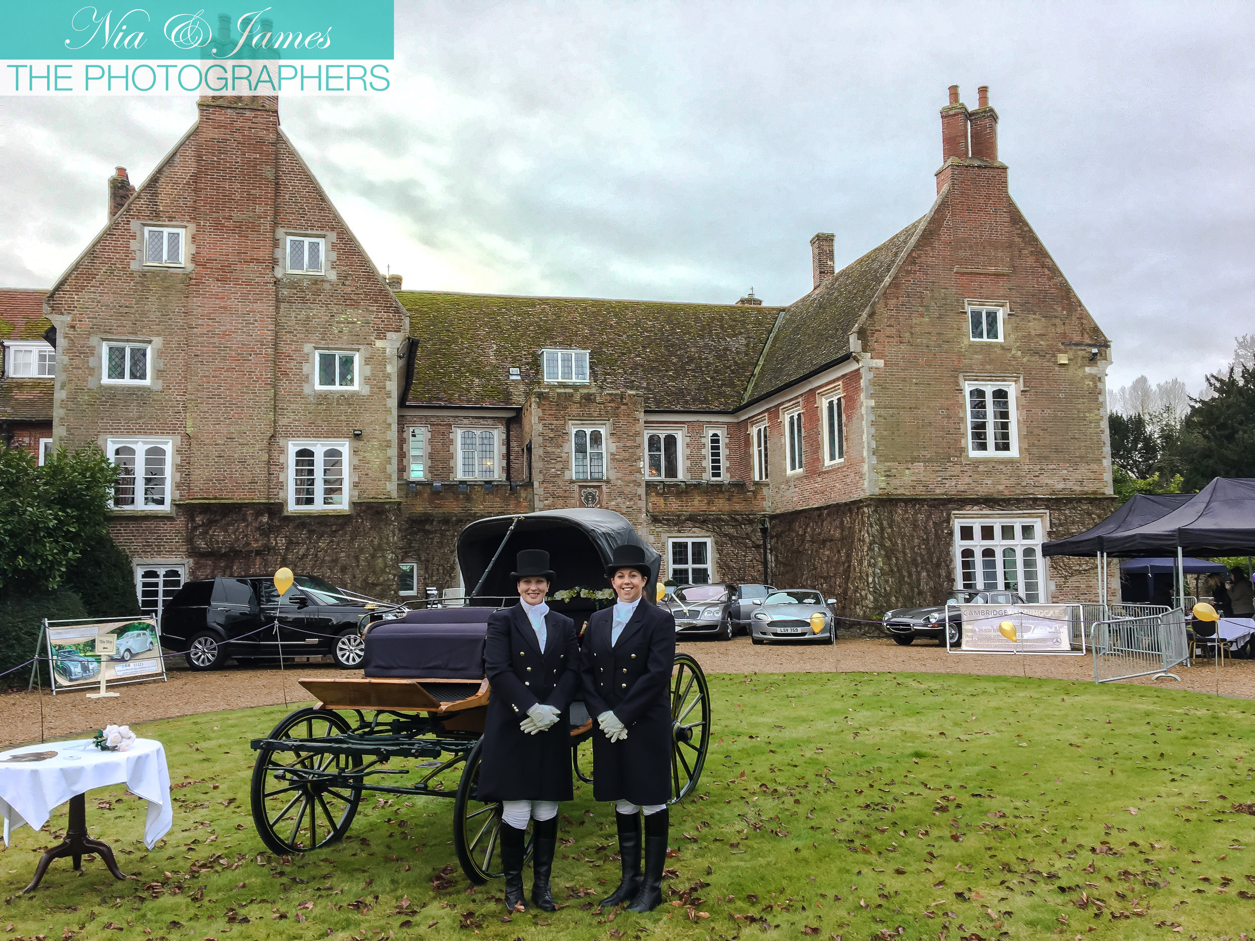 Hockwold Hall Wedding Fayre set up and waiting for the guests to arrive. Pictured here are exhibitors Charlton Carriages with their gorgeous horse drawn carriage, available for use on your wedding day.  https://www.facebook.com/charltoncarriageservices/