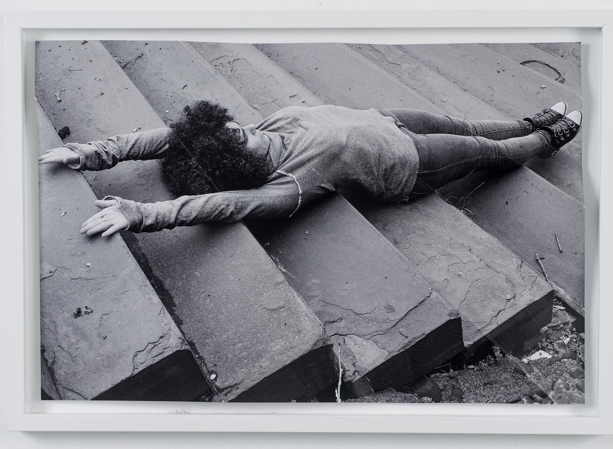 "Stairs , 17"" x 22""  Folded archival inkjet print, 2017"