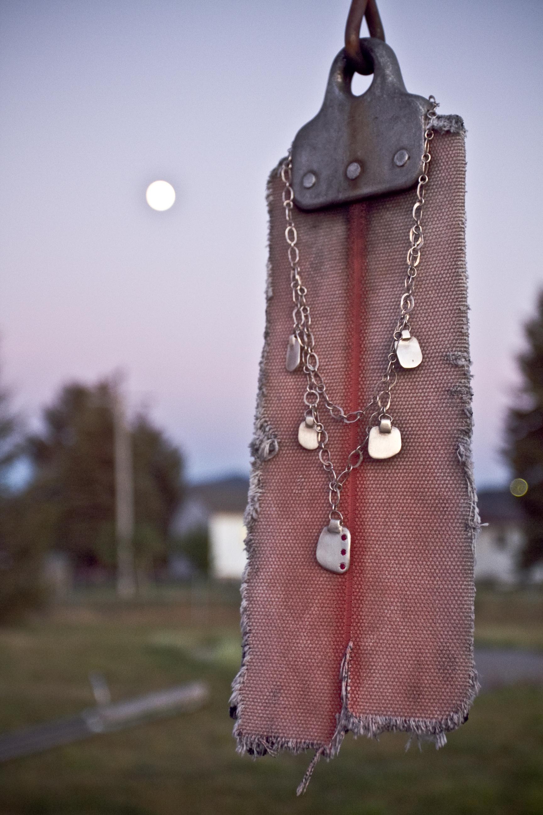 silver necklace handmade jewelry montana