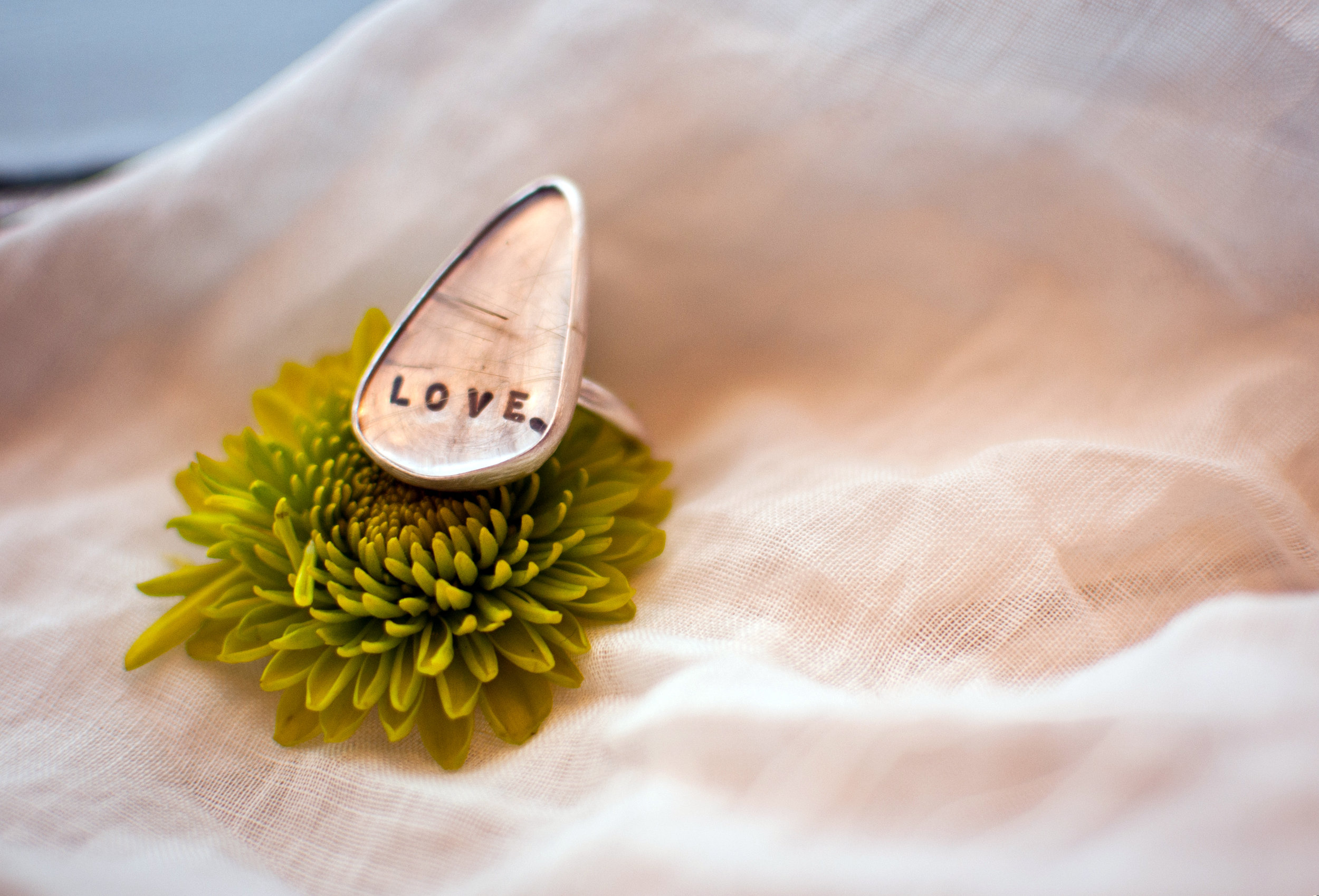 love ring silver handmade jewelry montana