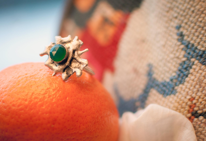 Silver ring handmade jewelry montana