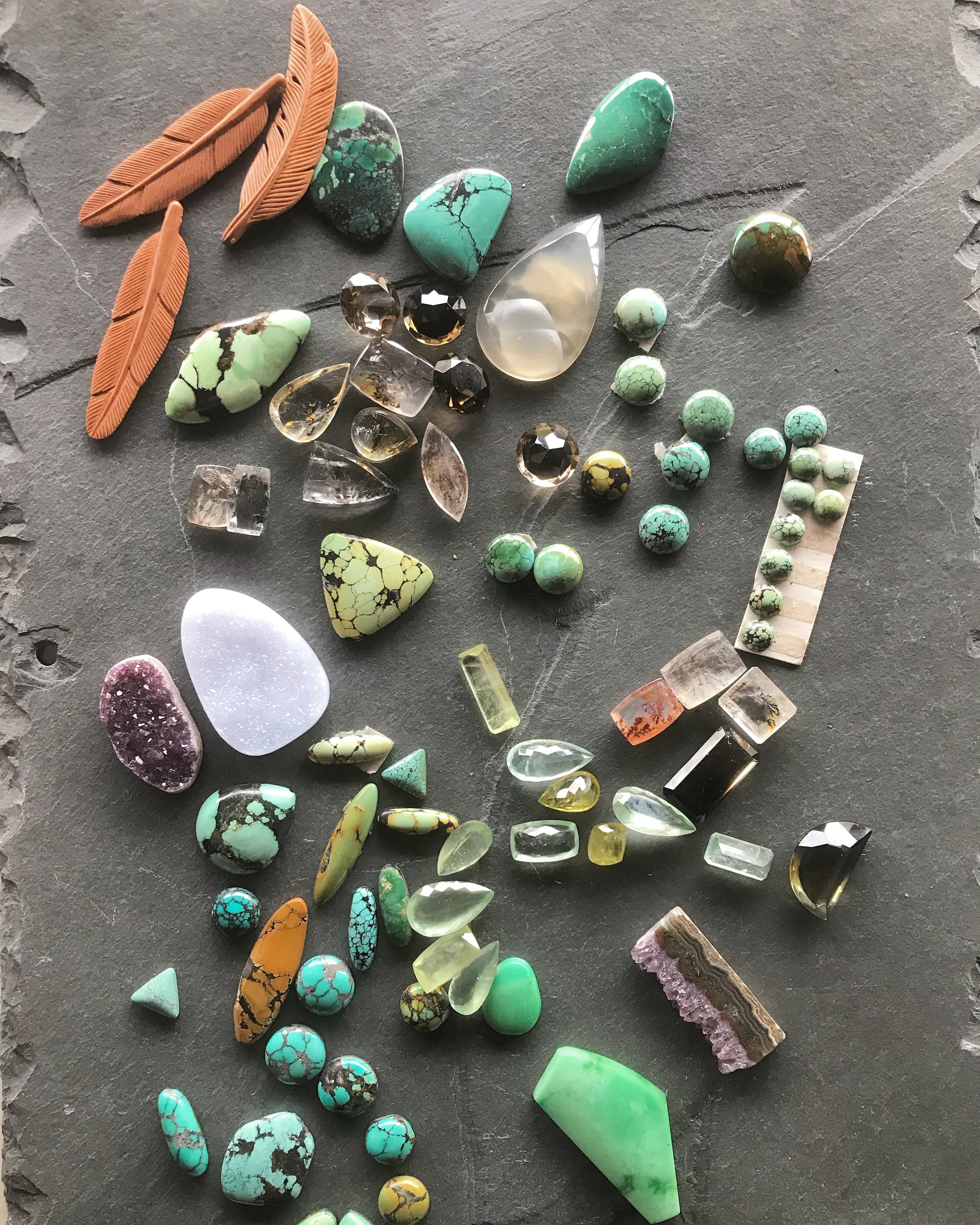 fly free jewelry hand cut stones from bozeman montana