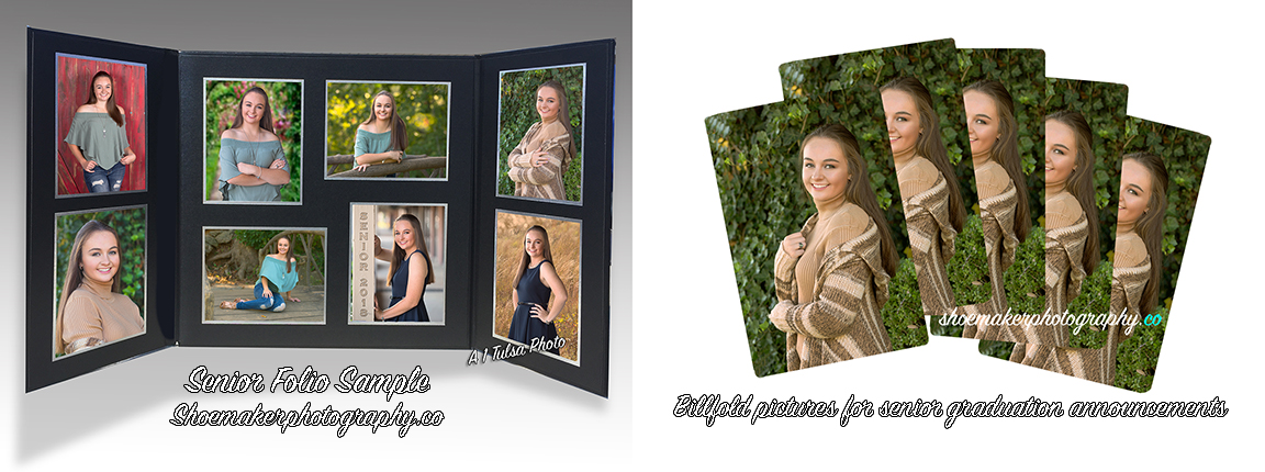Tulsa Favorite Senior Pictures - Samples of timeless senior portrait favorites, senior folios and billfold insert pictures for senior graduation announcements are still very popular.