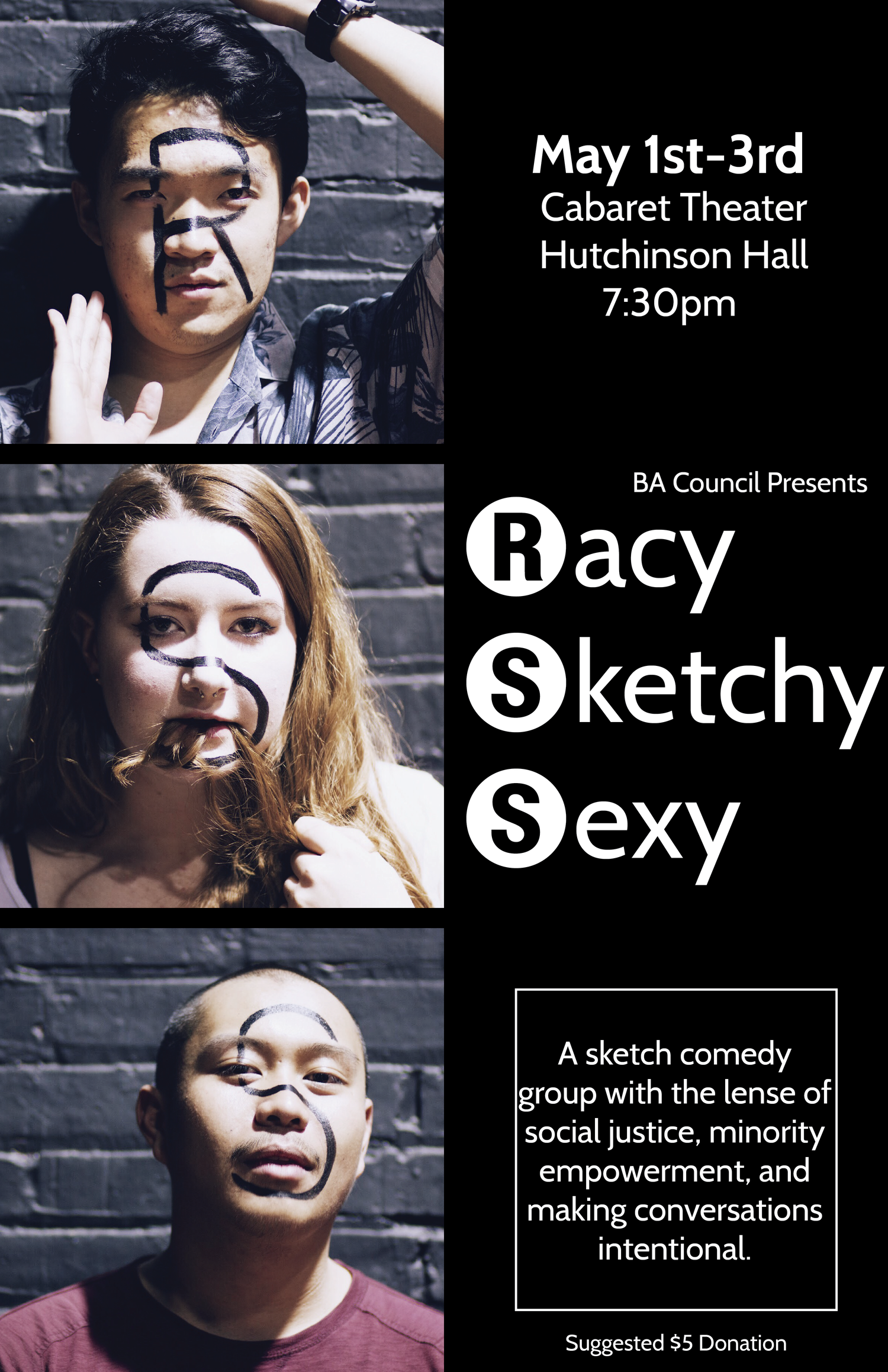 """Racy Sketchy Sexy 2015.   When there are no opportunities for minority voices, you just have to self-produce!  In December of 2014, I co-created """"Racy Sketchy Sexy,"""" a sketch comedy group that produces socially conscious, original work that supports diversity and the empowerment of minorities in sketch comedy.   Video of the performance , May 2015."""