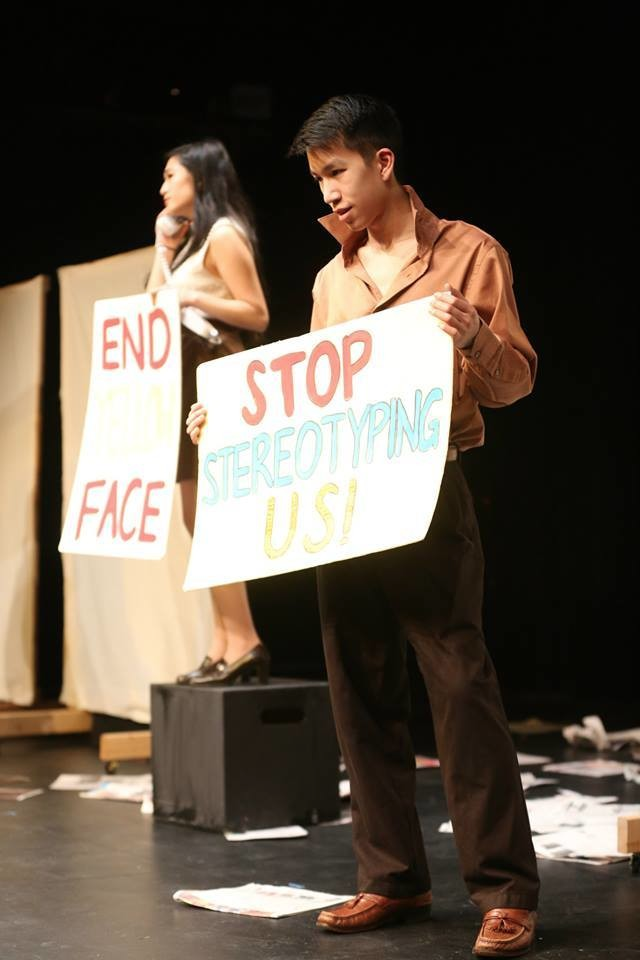 Cast in David Henry Hwang's  Yellow Face. Undergraduate Theater Society, January 2015.