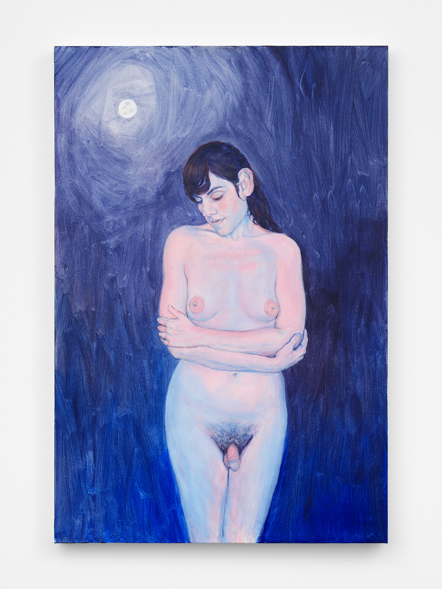 "Night (Self Portrait), 2019, Acrylic on Canvas, 36"" x 24"""