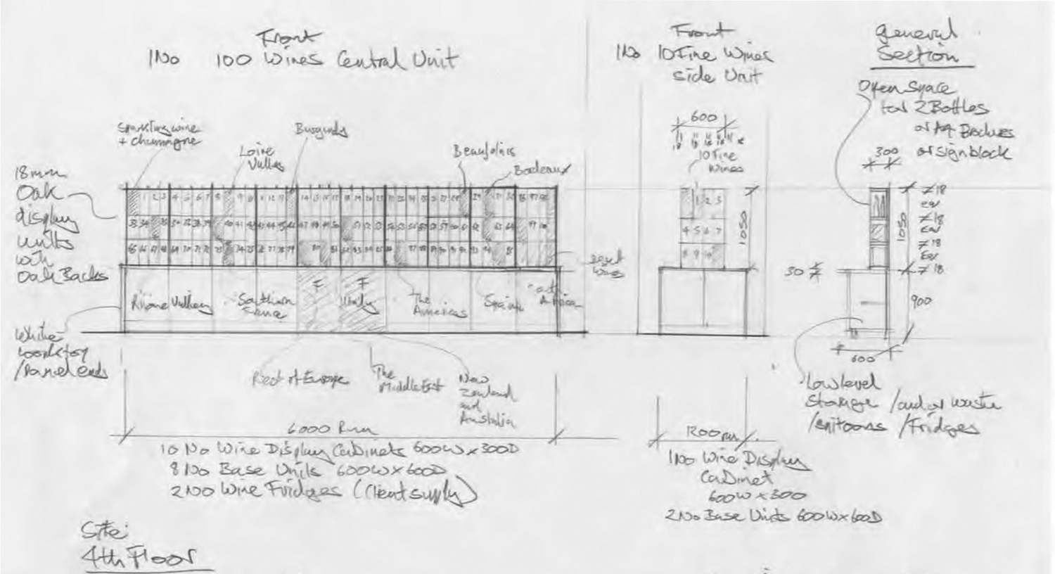 Architects drawing showing the clients vision.