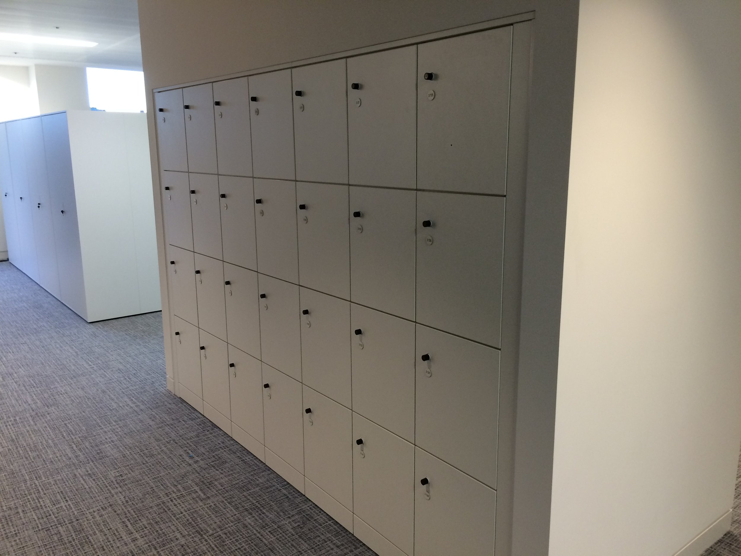 MFC lockers with an Ojmar RFID lock.