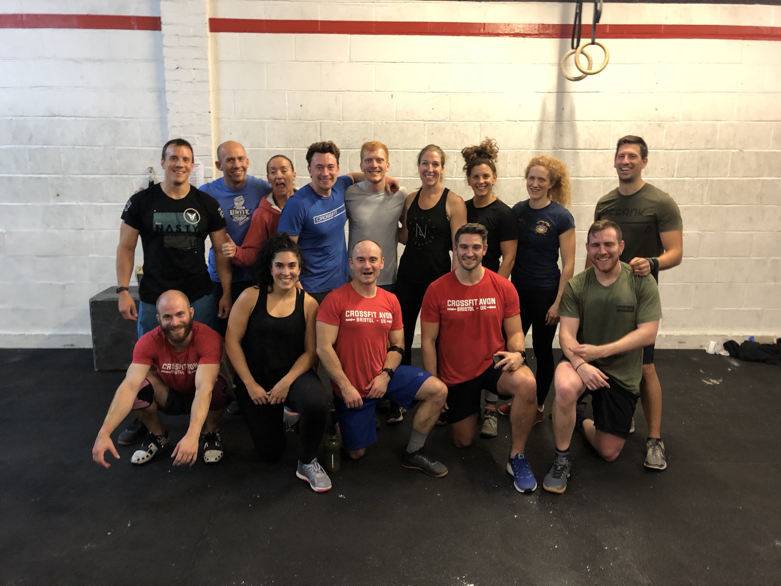 Some of the CrossFit Avon SiD Team