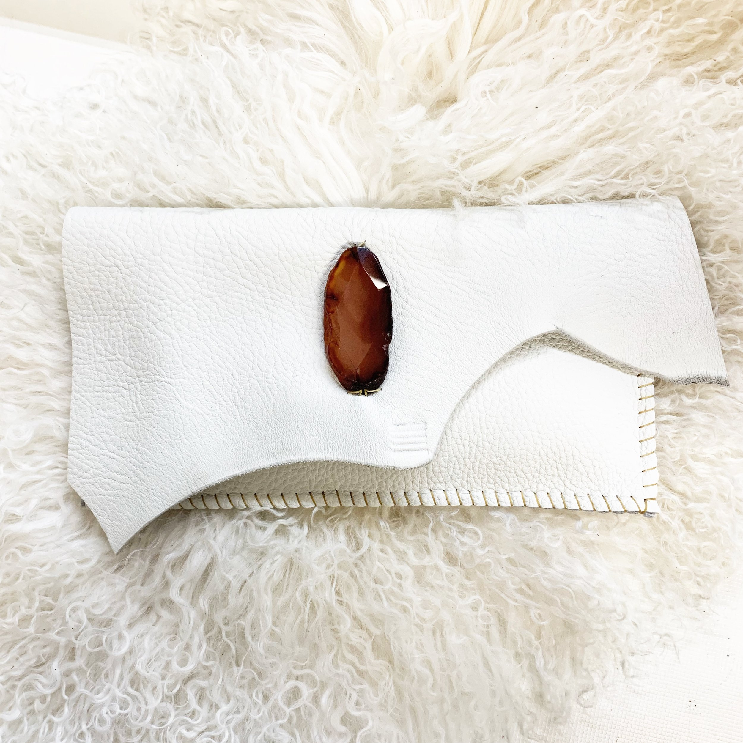 Jay Davis Bags - Bridal Studio Session - White Leather Clutch
