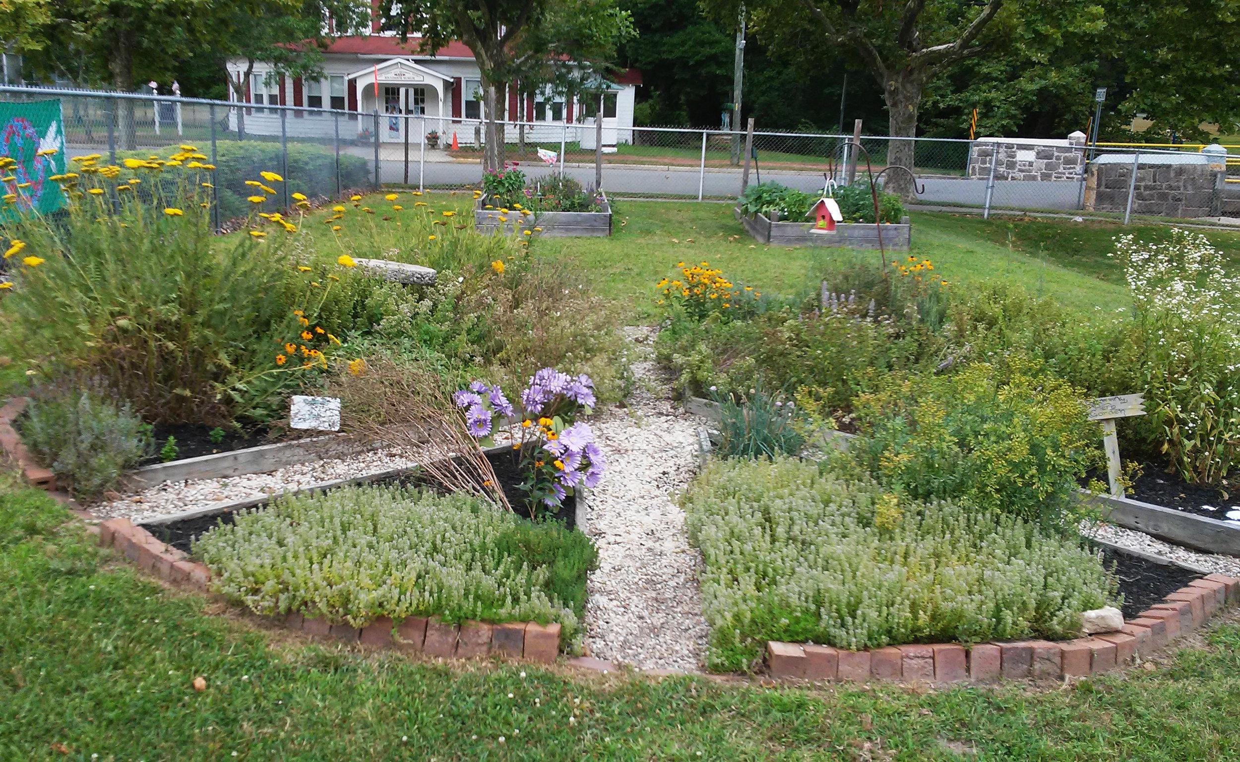 Peace sign garden at Peace Pilgrim Park