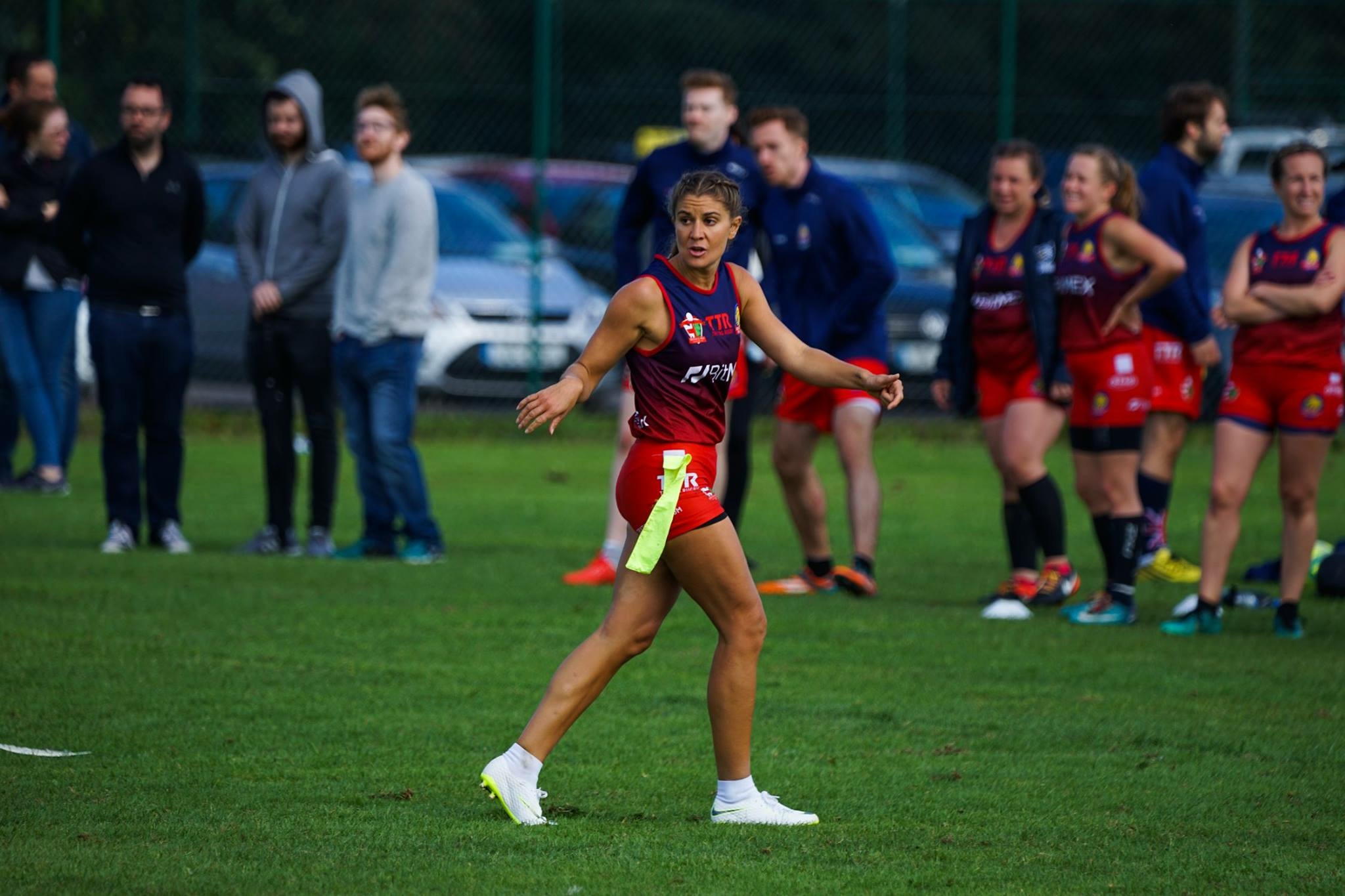 Grace Brown at the British and Irish Tag Rugby Cup | Grace Brown Fitness London
