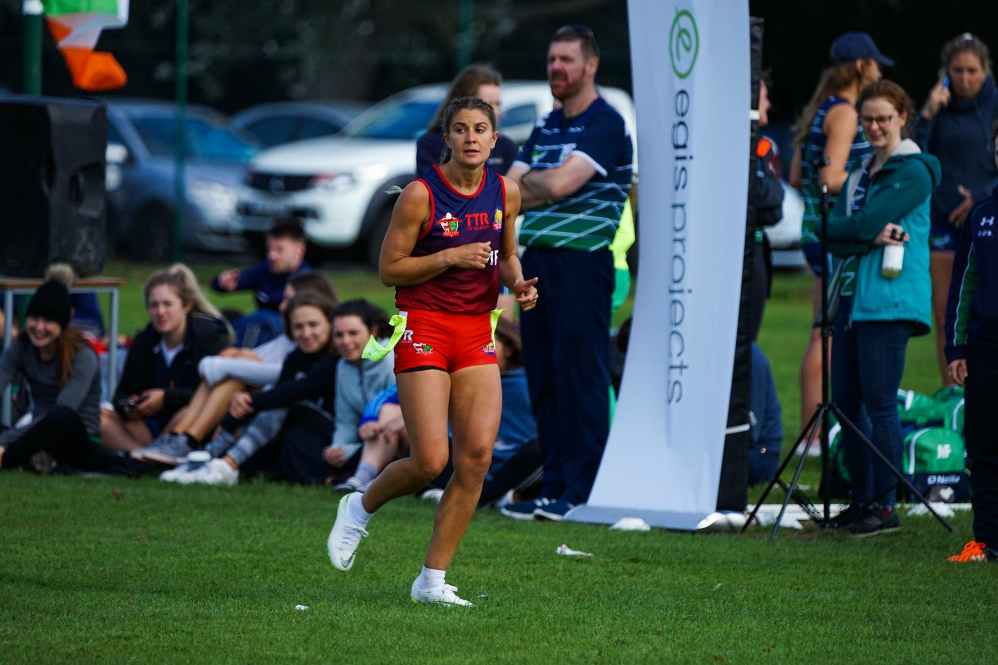 Grace on the wing at the British and Irish Tag Rugby Cup | Grace Brown Fitness London