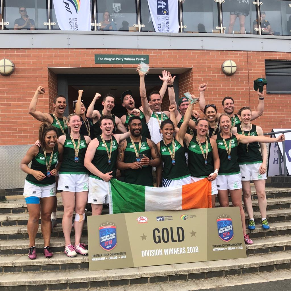 Winners! Irish Overs Touch Rugby | Grace Brown Fitness London