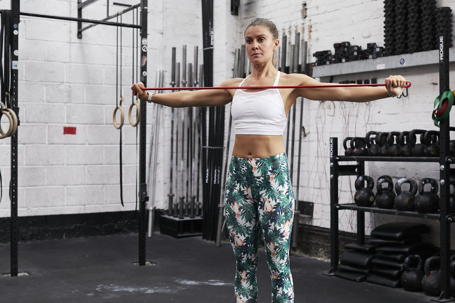 Band Scapular Retractions Front | Grace Brown Fitness London