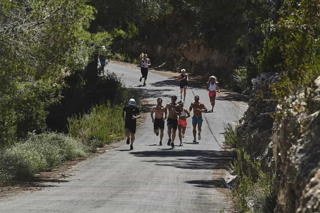 Grace Brown doing some hill sprints in Ibiza with Life Project Adventures