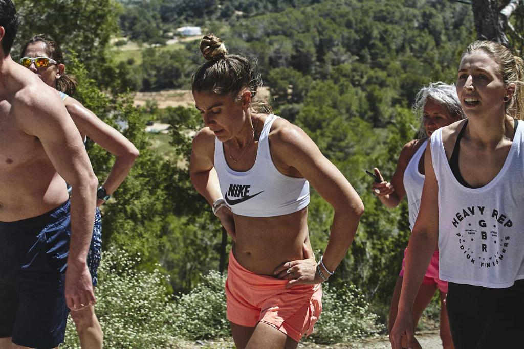 Grace Brown doing some hill sprints in Ibiza with Life Project Adventures - the achievement is the reward