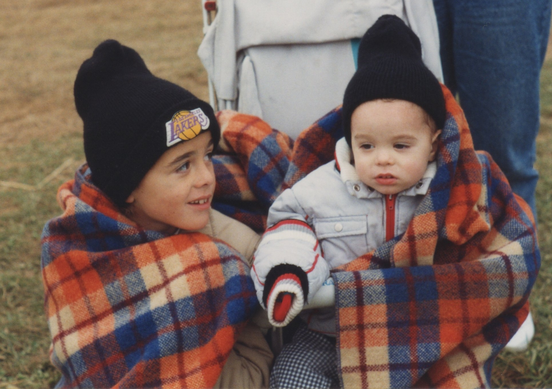Eric (left) and Chris (right) at a hot air balloon show in the early 90s.