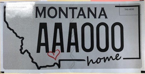 """My heart is in Montana."" This plate will help support parks, recreation, educational resources, and safety for the community of Manhattan, MT, the Heart of the Gallatin Valley.    The plates are currently in stock at the DMV!"