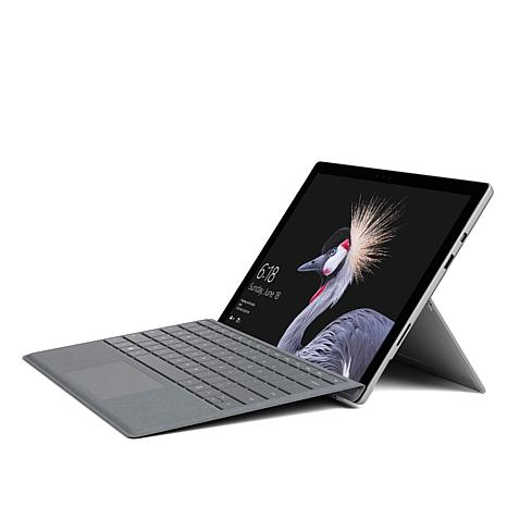 Laptop Mode  Transform Surface Pro into Laptop Mode by opening the built-in Kickstand and adding our new Surface Pro Signature Type Cover,* featuring luxurious Alcantara® material and an exceptionally responsive, full keyboard experience.