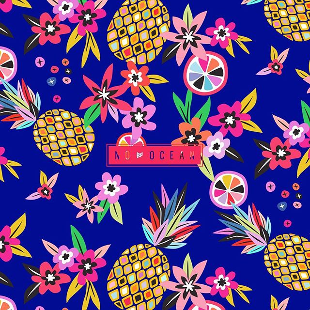 Hawaiian Punch 🍍🌺🍉 #nooceanco #surfacepattern #textiledesign #surfacedesign #patterndesign #pattern