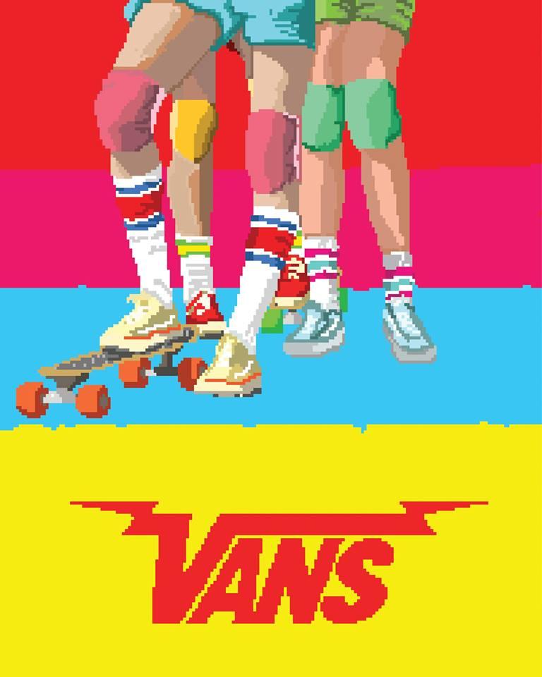 8bit illustration for VANS
