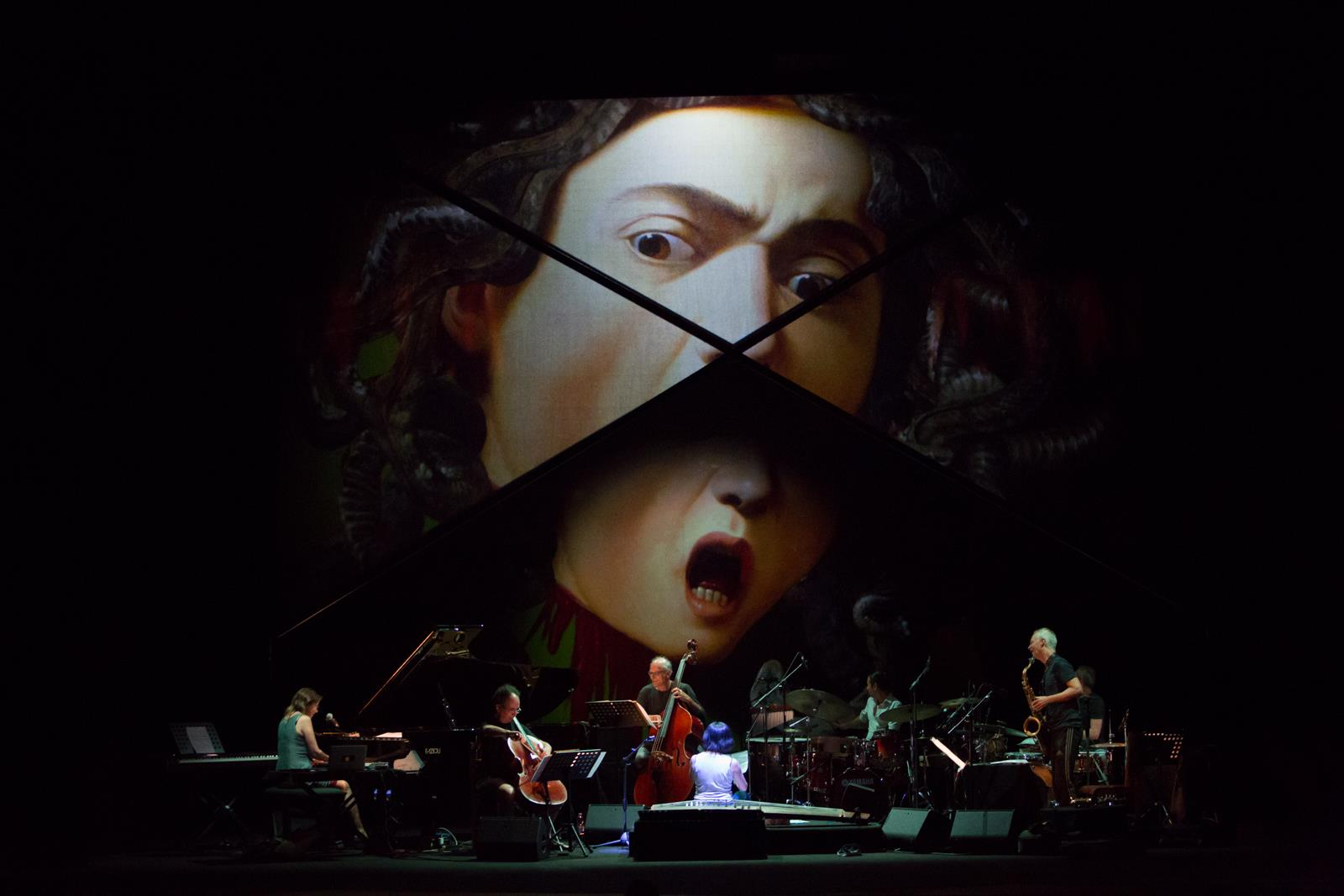 Animated paintings (Caravaggio) for Umbria Jazz Festival