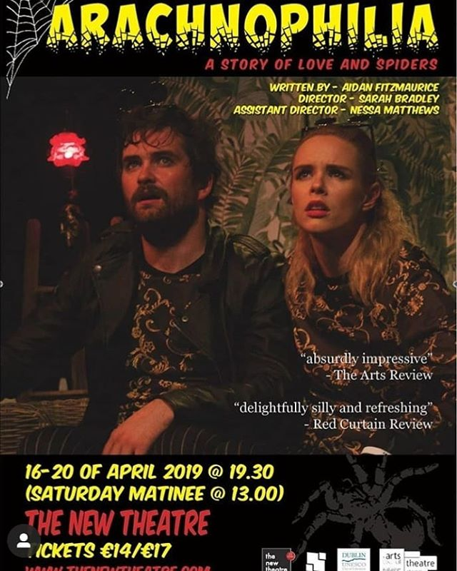 Go see our chief ambience creator, beat maker and heart breaker, @i_dunph, starring in the hilarious @__arachnophilia___ this week in @thenewtheatre He also did all the music in it and it is fucking deadly! 🕷️🕸️🕷️