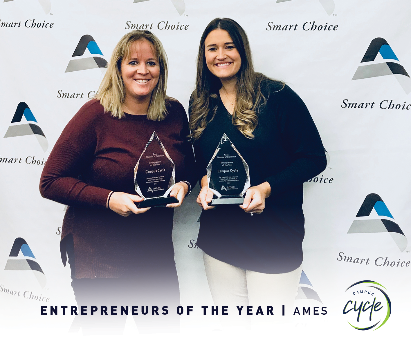 2017 Entrepreneurs of the Year awarded by Ames Chamber of Commerce