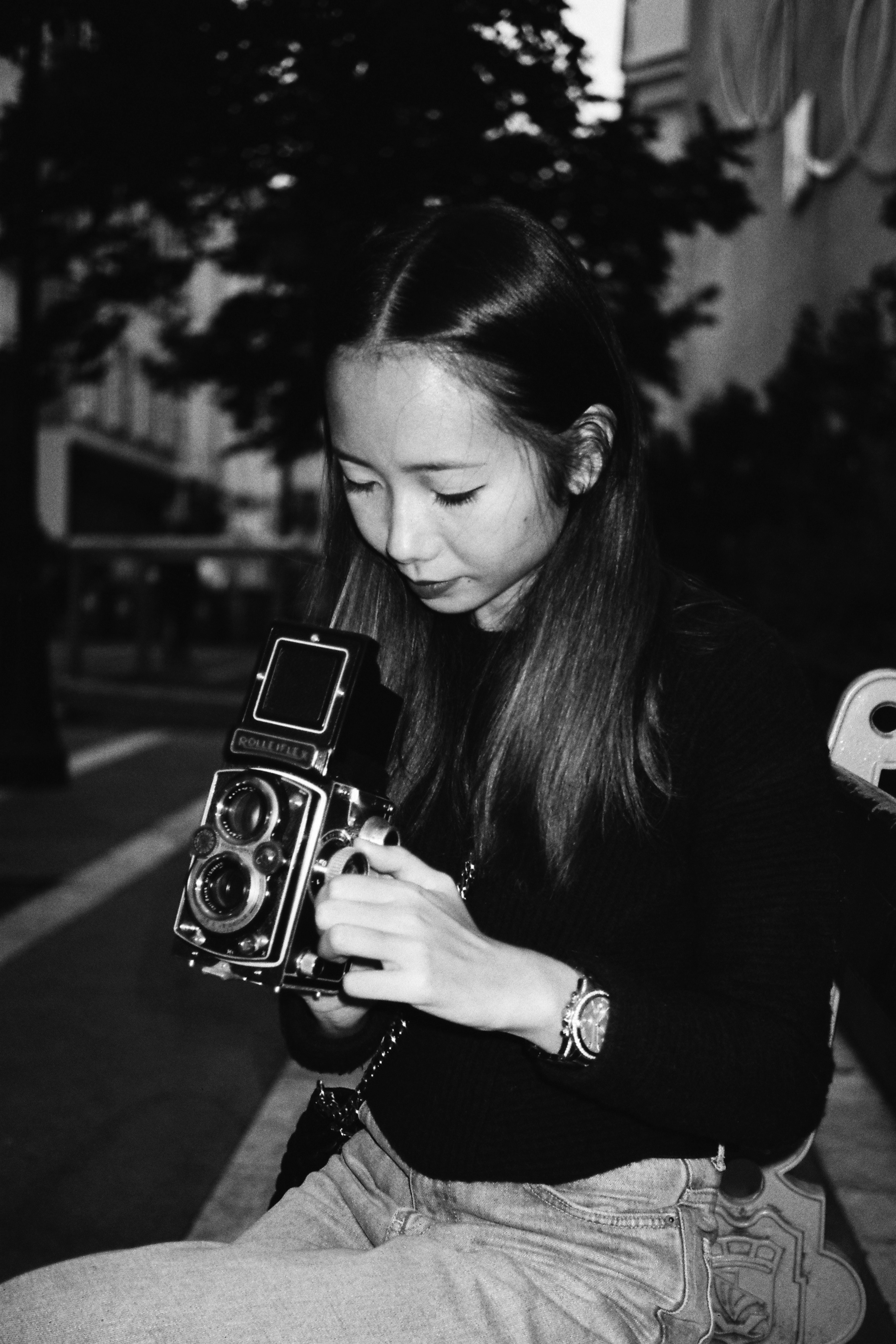 [Khanh-Linh with my rolleiflex, octobre 2016]