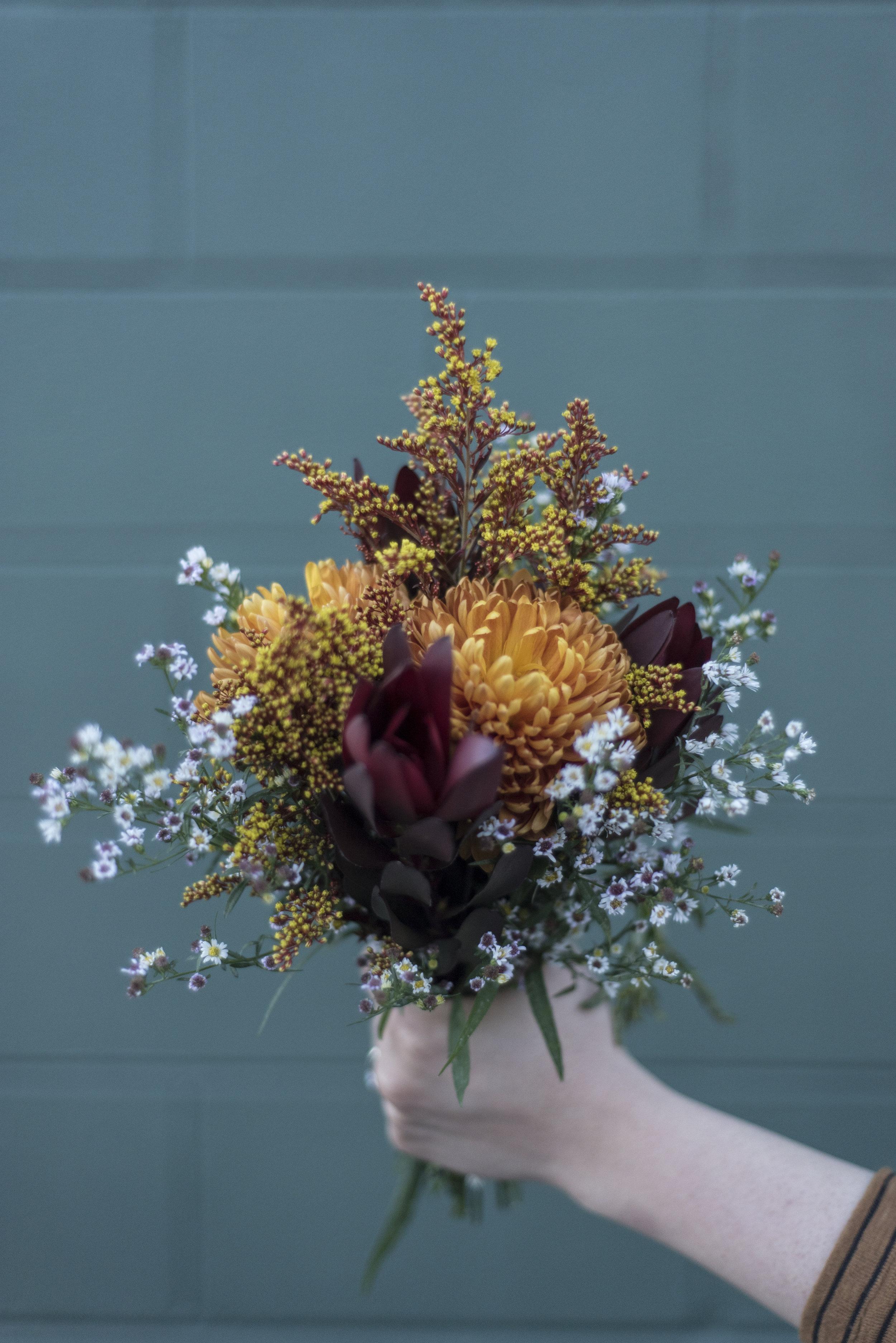 small boho bridal bouquet intimate elopement columbia south carolina.jpg
