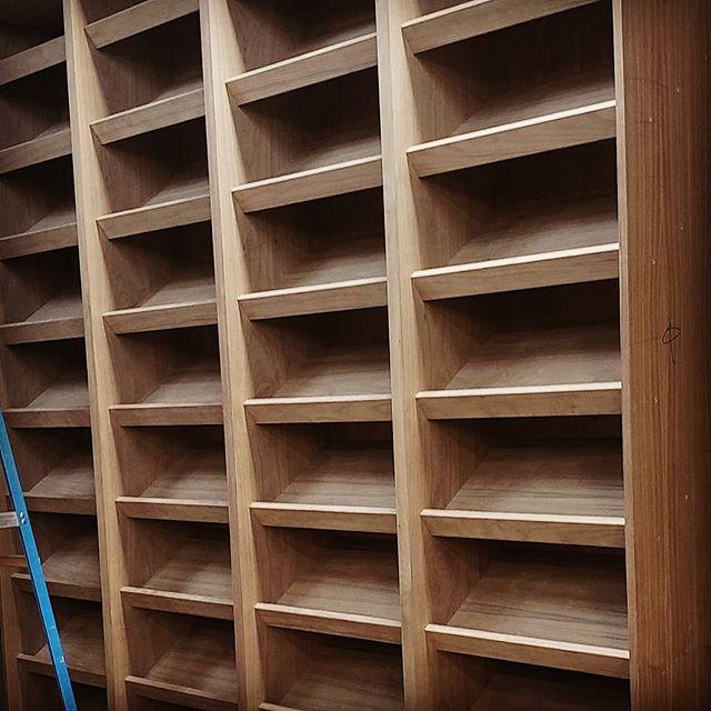 What better way to store your shoes, than floor to ceiling in walnut? #interiordesign #millwork #elevatordesign #kitchendesign #livingroomdecor #designbuild #madetoorder #bespokedesign #closetdesign #interiorarchitecture #bedroomdecor #uws #springsummer2019 #upbeatcustomdesigns #woodworking #woodwork #nycdesigner #furnituredesign #designer #brooklyn #madeinbrooklyn #luxuryliving #nycfashion #nycdesign #interiordesigner #manhattan #nycdesign #madeinny #madeinnyc #designideas #closetorganization @yaelkatzinteriors