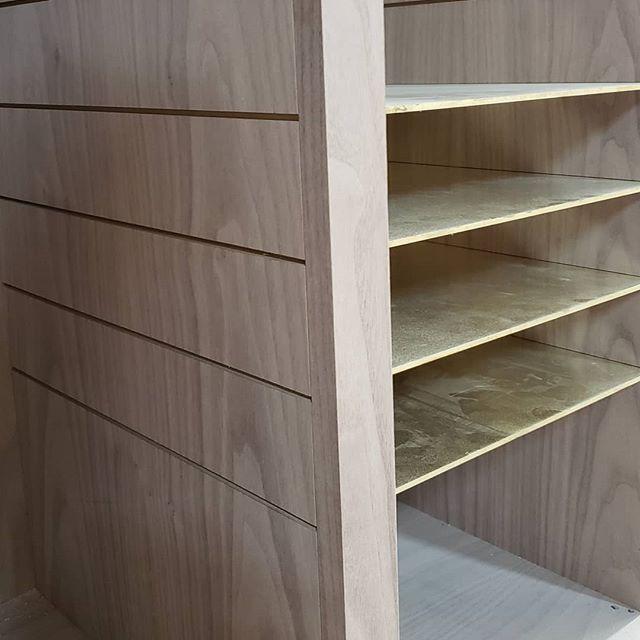This solid brass detail compliments walnut beautifully. Custom finish is next! @yaelkatzinteriors #millwork #closetdesign #customfurniture #dresser #livingroomdecor #designbuild #madetoorder #bespokedesign #interiorarchitecture #bedroomdecor #uws #fall2019 #upbeatcustomdesigns #woodworking #woodwork #nycdesigner #furnituredesign #designer #brooklyn #madeinbrooklyn #luxuryliving #nycfashion #nycdesign #hercloset #interiordesigner #manhattan #nycdesign #madeinny #madeinnyc