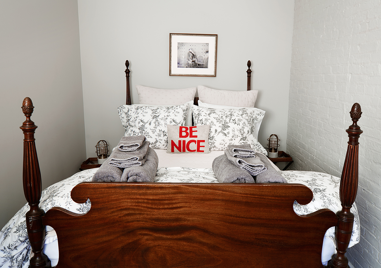 Be Nice! An important, cozy reminder to all from  The Pennington Suite.