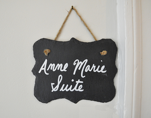 The Anne Marie Suite - hanging sign