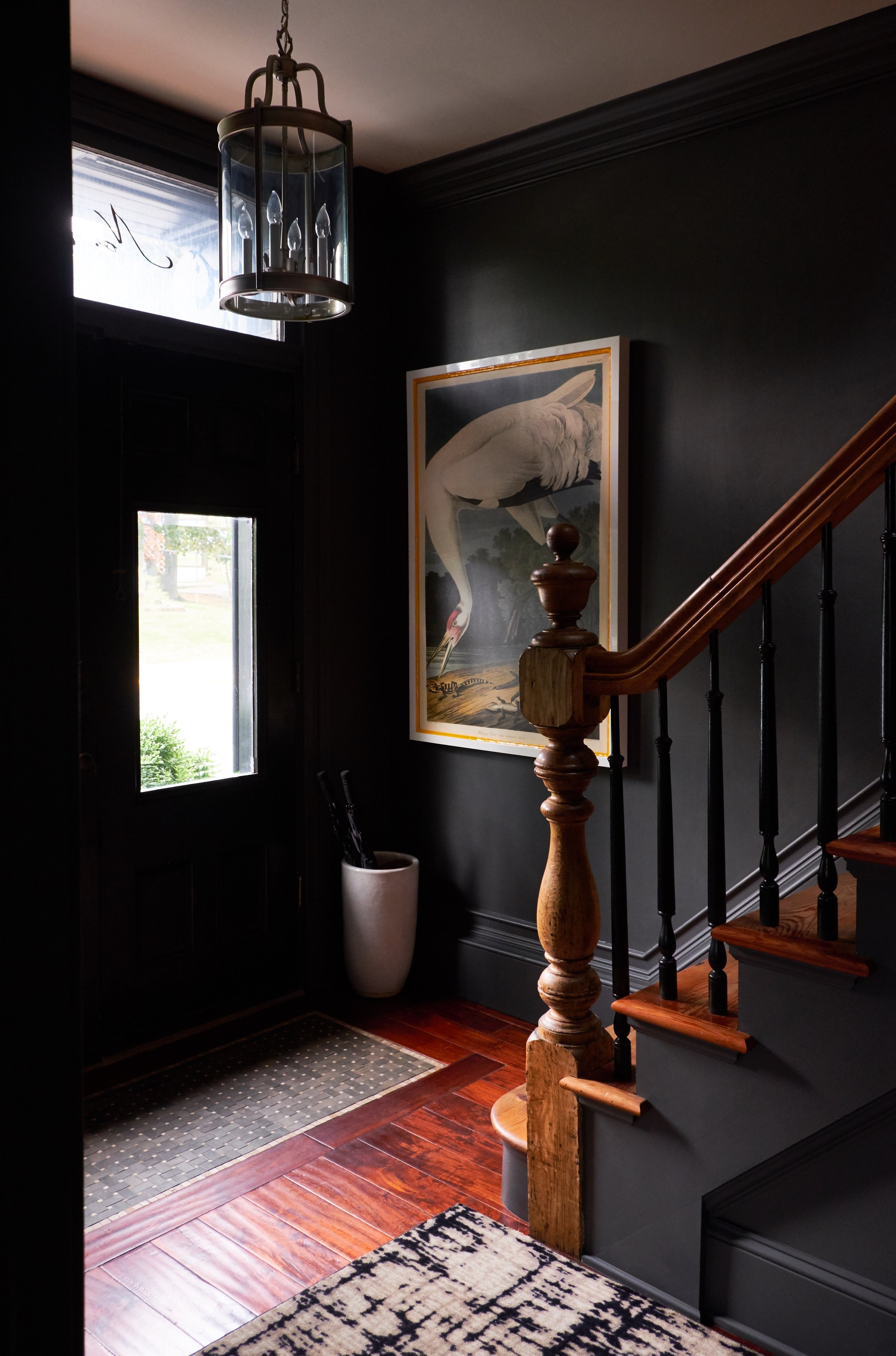 The Merchant House entryway and stairwell