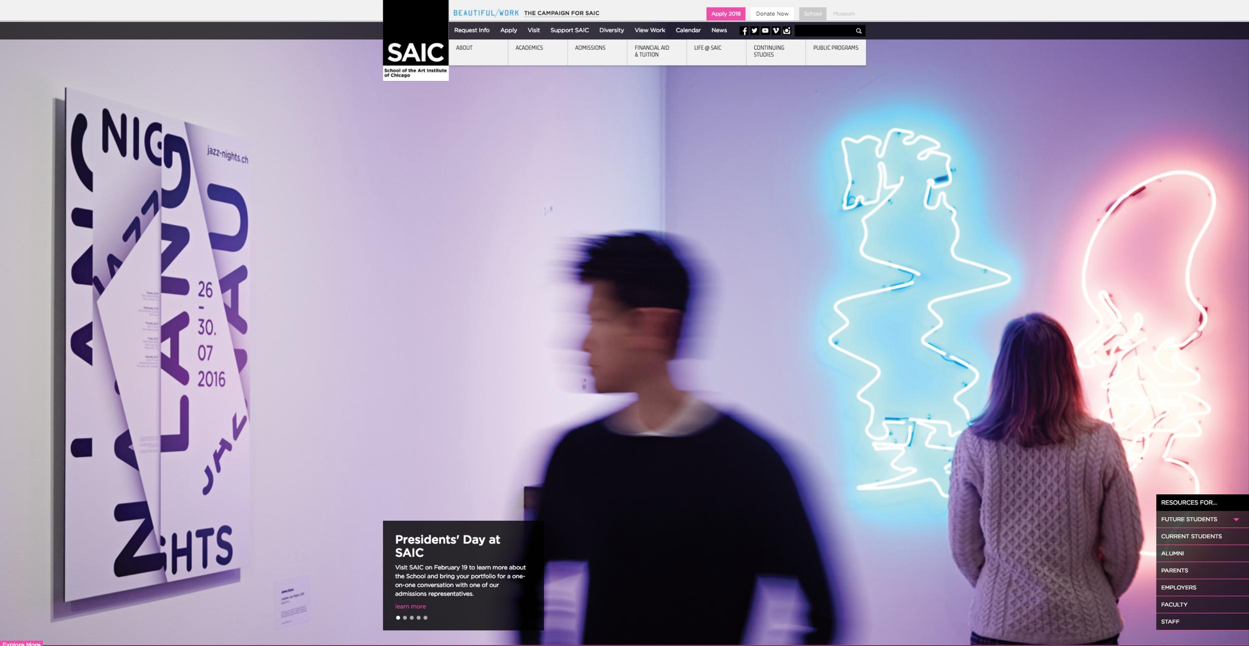 Featured in School of Art Institute of Design homepage