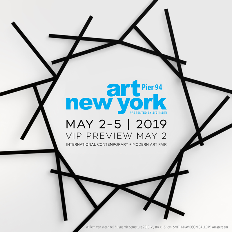 "ART NEW YORK RETURNS FOR FIFTH EDITION WITH 70 INTERNATIONAL GALLERIES OFFERING CONTEMPORARY, MODERN, POST-WAR AND POP WORKS    The highly-anticipated fifth edition of  Art New York  returns to Pier 94 Thursday, May 2 through Sunday, May 5 during the height of New York's art and cultural season. The fair will kick off with an elegant, invitation-only VIP Preview on Thursday May 2 at 2pm before the fair opens to the public at 5pm.    Art New York will showcase noteworthy and fresh works by important artists from the contemporary, modern, post-war and pop eras, and will feature paintings, photography, prints, drawings, design and sculptures presented by nearly 300 artists represented by 70 international galleries across 50 cities in 18 countries. The fair also includes CONTEXT, a platform for a selection of new and established contemporary galleries to showcase emerging, mid-career and cutting-edge talent.    Art New York provides a fresh alternative for new and established collectors, curators, museum professionals and art world luminaries to discover and acquire a carefully-curated, content-rich presentation of investment quality artworks from both the primary and secondary markets including KAWS, RETNA, Pablo Atchugarry, Jean Michel Basquiat, Fernando Botero, George Condo, Salvador Dali, Jean Dubuffet, Willem de Kooning, Shepard Fairey, Keith Haring, Damien Hirst, Robert Indiana, Roy Lichtenstein, Robert Longo, Francisco Masó, Henri Matisse, Joan Miró, Pablo Picasso, Richard Prince, Frank Stella, Robert Rauschenberg , and  Andy Warhol . Galleries at Art New York have previously exhibited at Art Miami, Art Basel, Design Miami, The Armory Show, Masterpiece, the Art Dealers Association of America's The Art Show and more.    ""For our fifth edition, we are proud to present a premium art fair that showcases an impressive selection of artworks from artists of the 20th and 21st centuries as well as work from the most significant emerging artists,"" said Nick Korniloff, Director, Art New York. ""In addition, our presentation provides a worthy complement to the activities taking place during New York art week.""    Art New York will provide complimentary shuttle service between Art New York and the Frieze Ferry at East 35th Street. The Fair will allow complimentary admittance to all Frieze and TEFAF VIP cardholders."