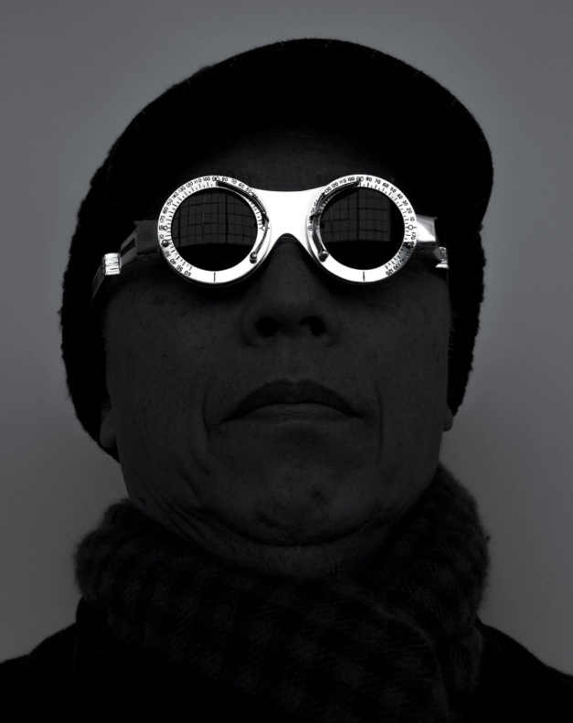 A self-portrait by the artist Hiroshi Sugimoto in the Oculist Witness eyeglasses he designed in 2014.CreditCreditDesigned by Hiroshi Sugimoto, Produced by Lizworks and Selima Optique, ©Hiroshi Sugimoto